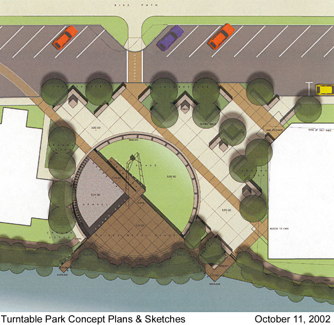 Turntable Park Concept Plans and Sketches