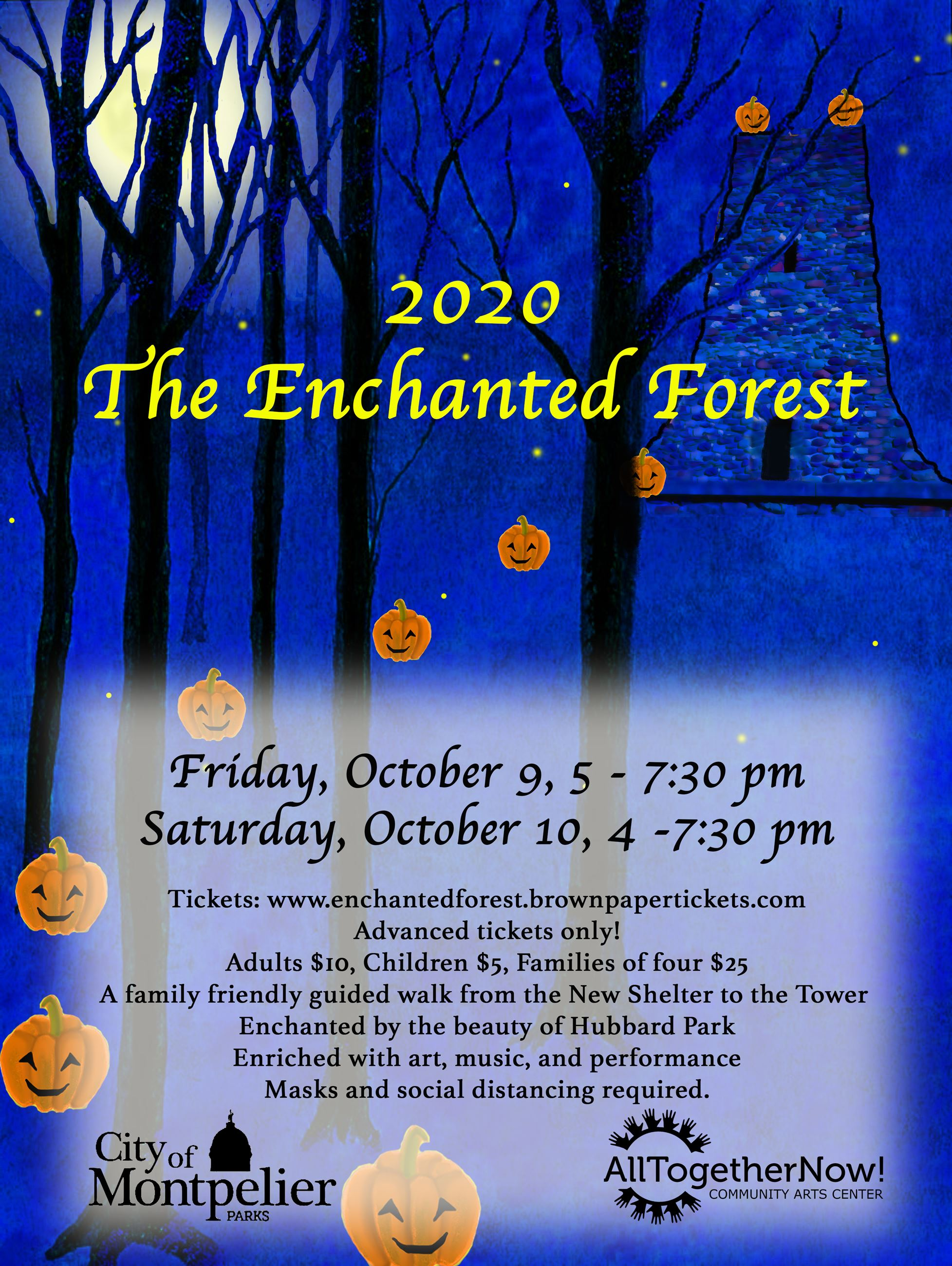 Enchanted Forest Poster Moon